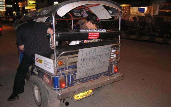 Xe tuk tuk ở Thái Lan.