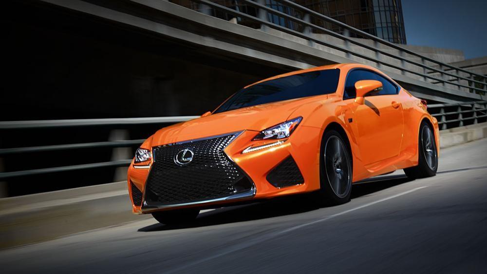 Lexus RC F màu cam 1