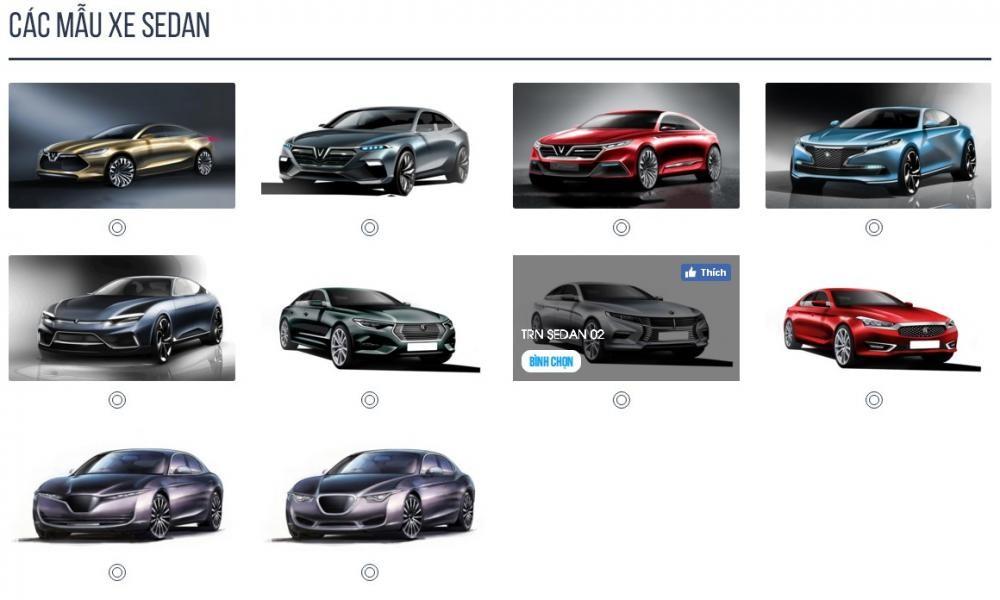 Bình chọn xe VinFast concept.