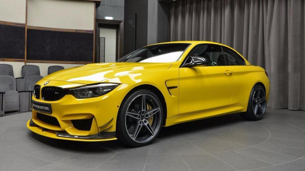 BMW M4 Convertible Speed Yellow khi đóng mui 4