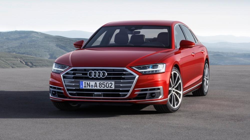 Audi A8 2018 màu đỏ 4