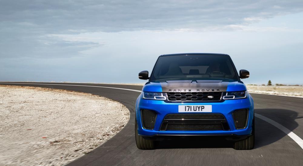 đầu xe Range Rover Sport 2018 màu xanh 4