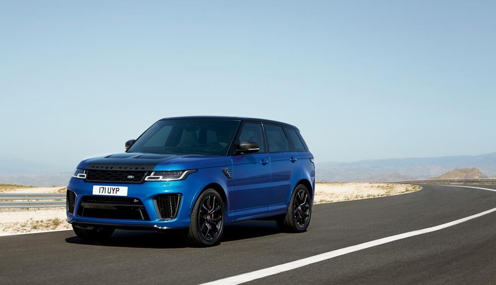 đầu xe Range Rover Sport 2018 màu xanh 5
