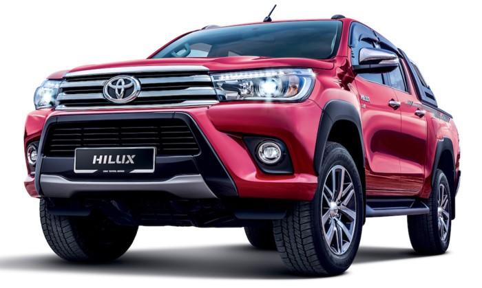 đầu xe Toyota Hilux 2018 2