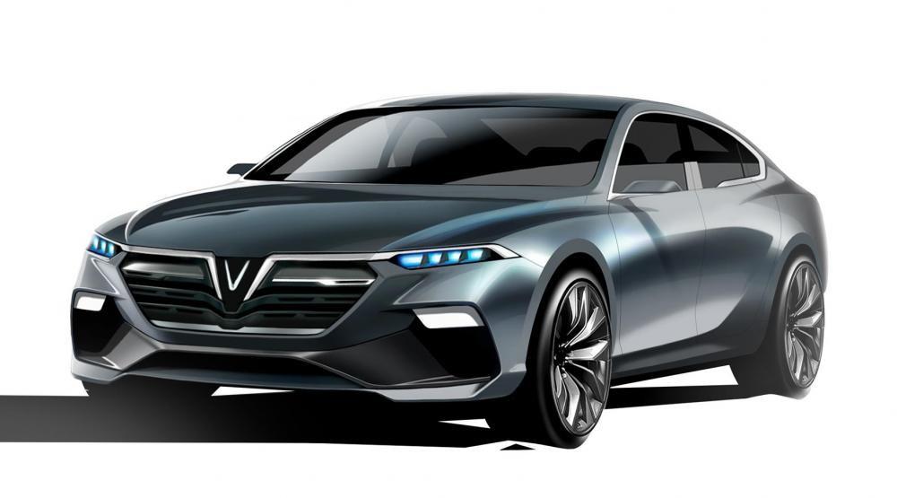 Logo của mẫu thiết kế xe hơi cho VinFast