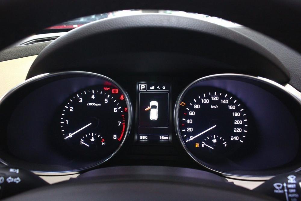 Cụm đồng hồ của Hyundai SantaFe 2017 và Nissan X-Trail 2017