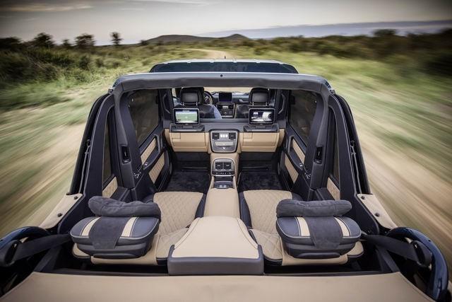 Thiết kế nội thất Mercedes-Maybach G650 tương đối hiện đại