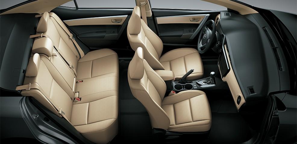 ghế ngồi của xe Toyota Corolla Altis 2017