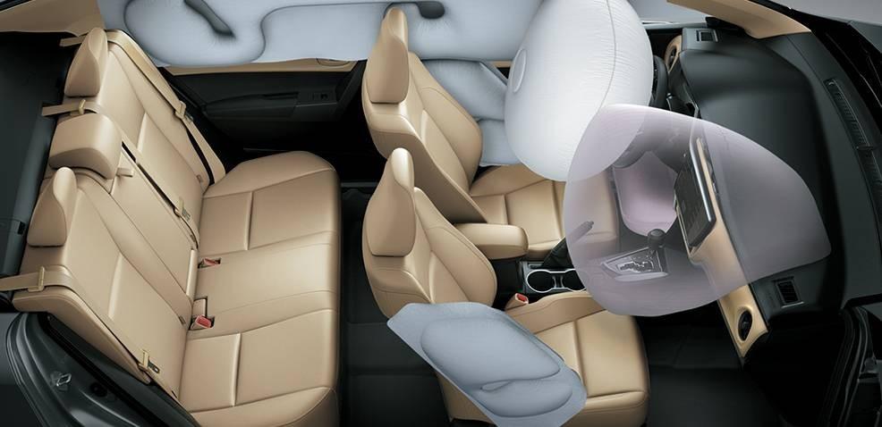 trang bị an toàn của Toyota Corolla Altis 2017