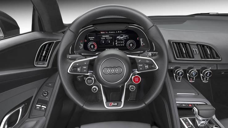 thiết kế nội thất của Audi R8 2017