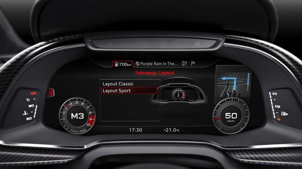 cụm đồng hồ của Audi R8 2017