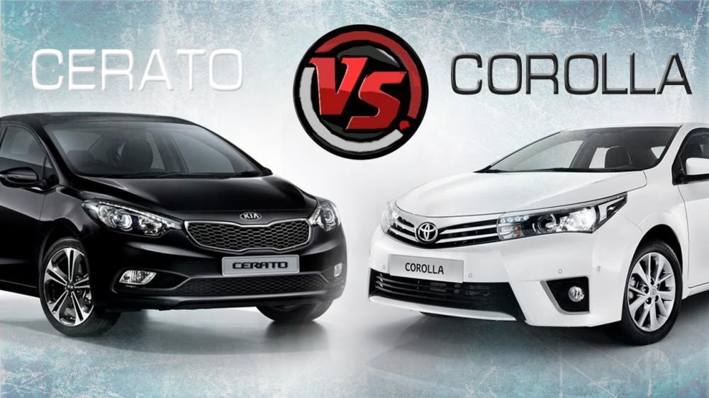 So sánh xe Toyota Corolla Altis 2017 và Kia Cerato 2017
