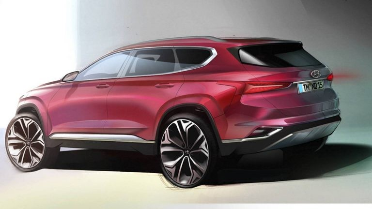 Phác họa Hyundai Santa Fe 2019