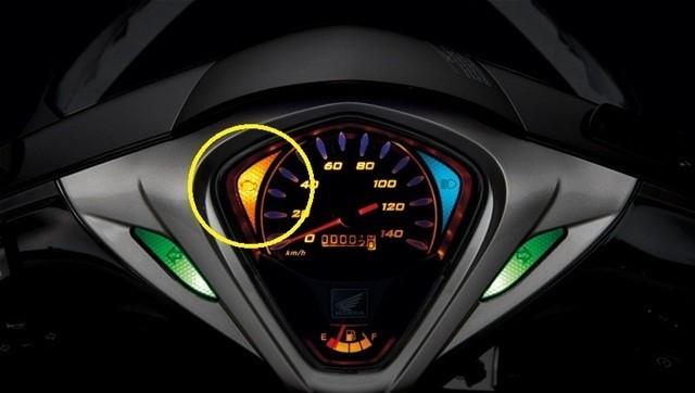 Đèn báo thay dầu trên Honda SH