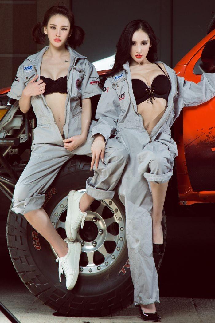 Chảy nước miếng với hai cô thợ sửa xe có thân hình cực nuột nà gợi cảm - 7