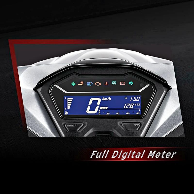 Honda Click 150i 2018 sở hữu đồng hồ kỹ thuật số