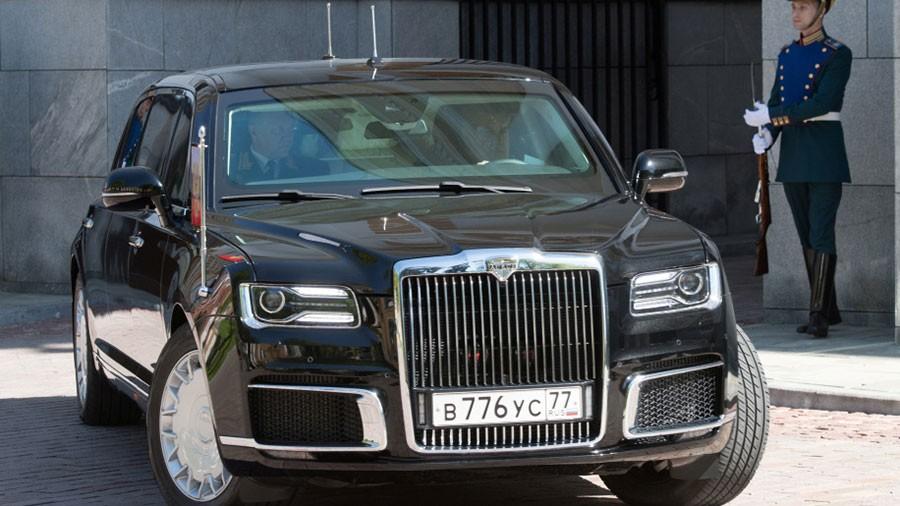 Chiếc limousine của Tổng thống Putin có thiết kế giống Rolls-Royce