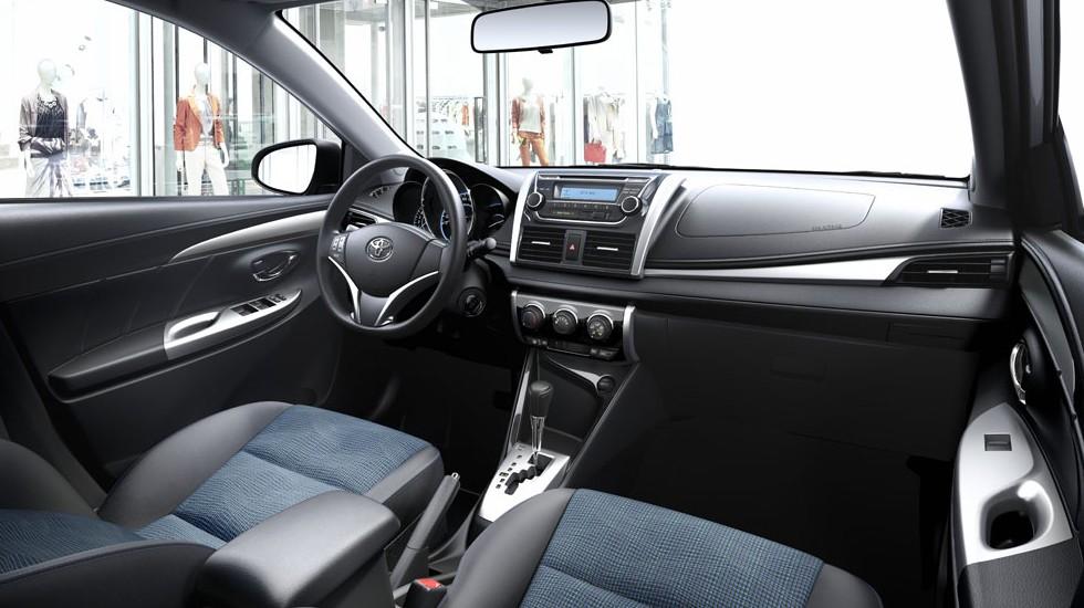 Thiết kế nội thất của xe Toyota Yaris