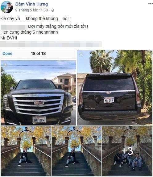 Đoạn chia sẻ của Đàm Vĩnh Hưng về chiếc SUV hạng sang Cadillac Escalade mới