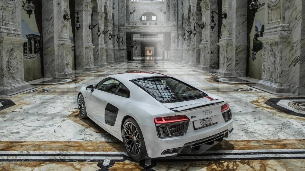 Audi R8 RWS 2018 dùng động cơ V8, dung tích 5,2 lít