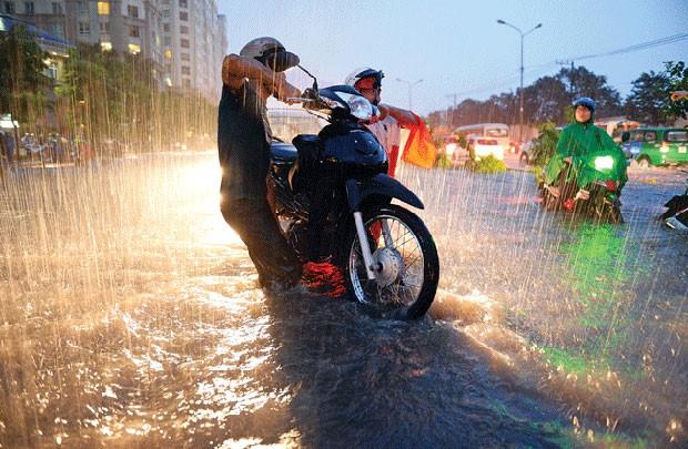 Xe chết máy do ngập nước