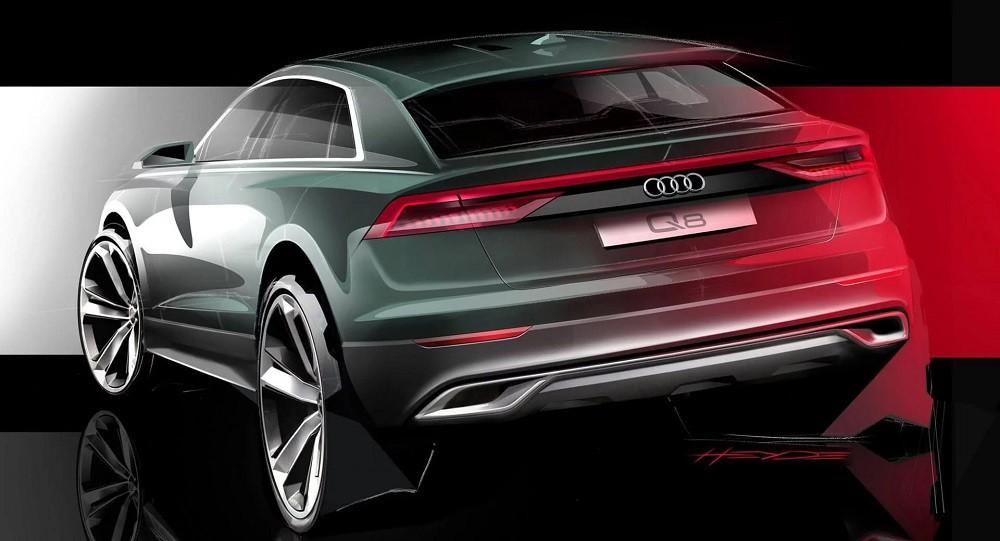 Hình ảnh phác họa thiết kế của Audi Q8 2019