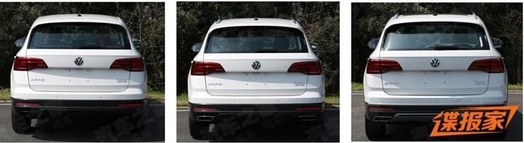 Volkswagen Tharu có 3 kiểu cản sau