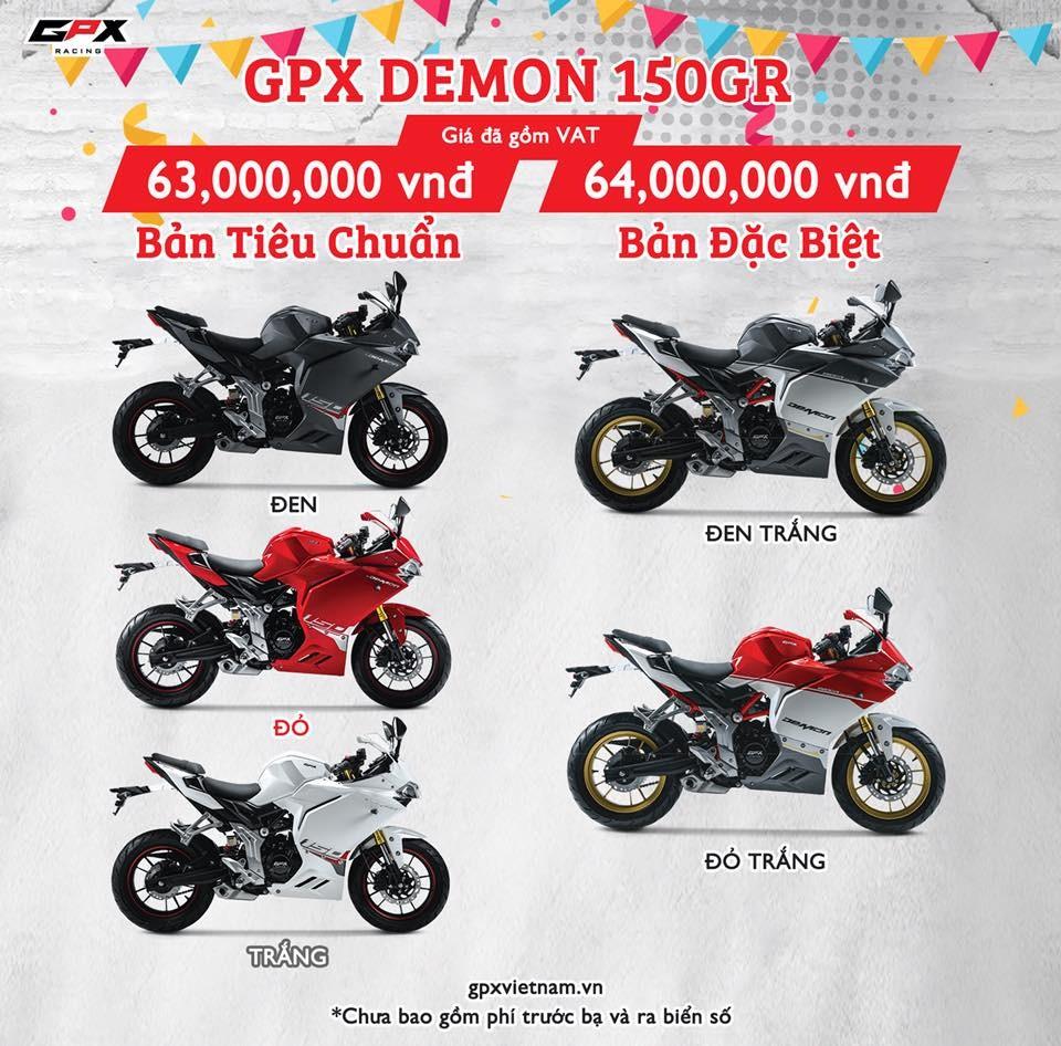 giá xe GPX Demon 150GR