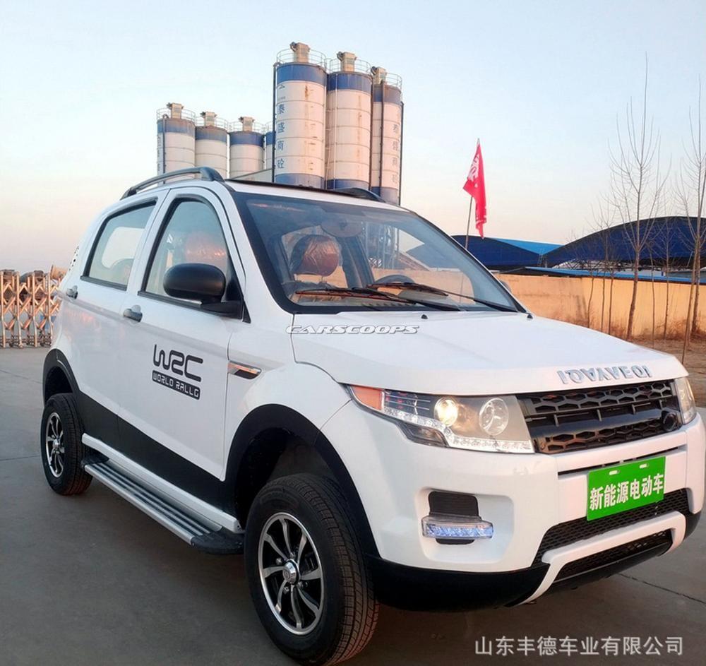 Xe điện mini nhái Range Rover Evoque của công ty Shandong Fengde