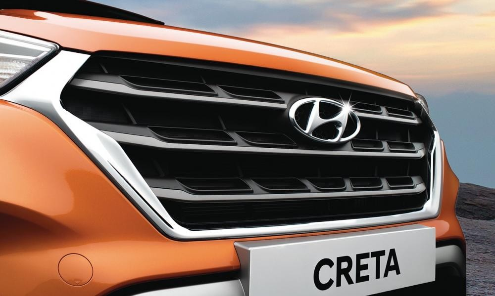 Lưới tản nhiệt Cascading Grille của Hyundai Creta 2018