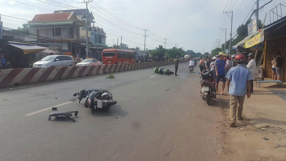 Người điều khiển xe máy bị thương nặng sau vụ tai nạn