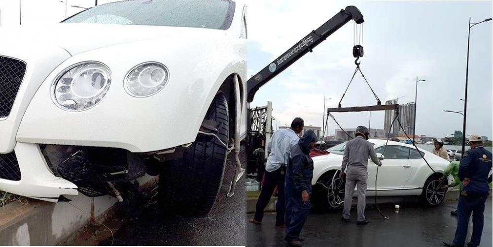 Thiệt hại dành cho chiếcBentley Continental GT V8 không hề nhỏ.