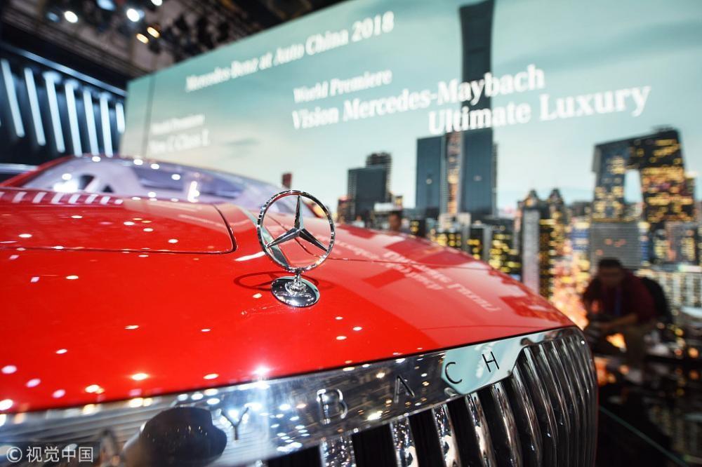 Hình ảnh nhãn hiệu Mercedes-Benz ở triển lãm ô tô Bắc Kinh 2018