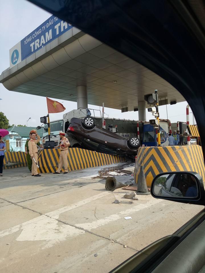 Hiện trường vụ tai nạn của chiếc Kia K3