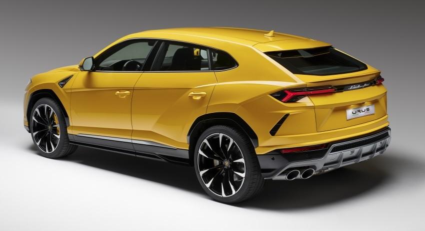 Thiết kế đuôi xe của Lamborghini Urus chính hãng