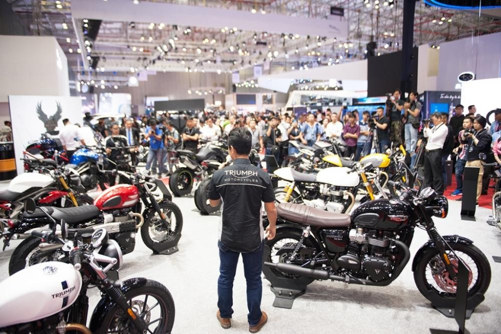 Triumph's showroom will have many vehicles to experience at this year's Auto Expo