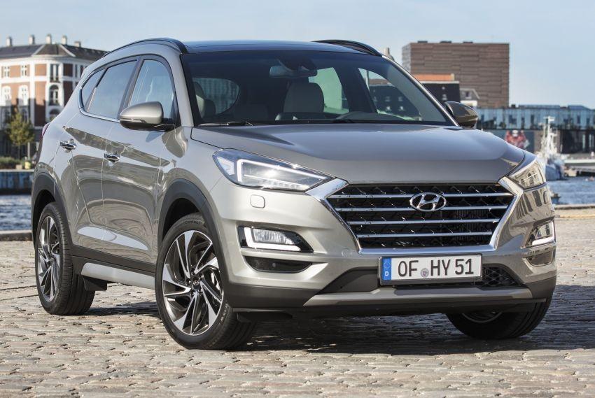 Hyundai Tucson 2019 được trang bị đèn pha LED và lưới tản nhiệt mới
