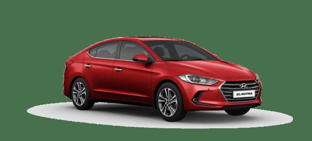 Mẫu Hyundai Elantra màu đỏ