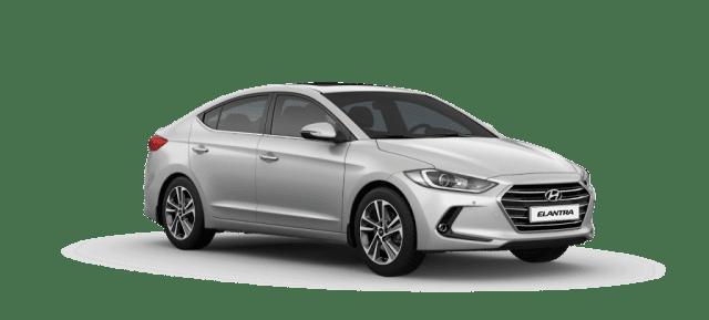 Mẫu Hyundai Elantra màu trắng