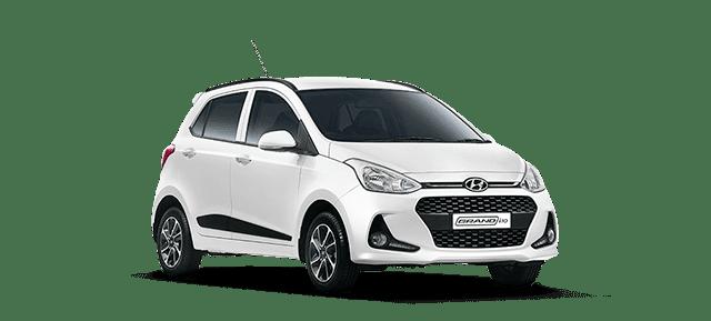 Mẫu Hyundai Grand i10 màu trắng