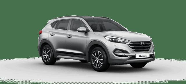 Mẫu Hyundai Tucson màu bạc