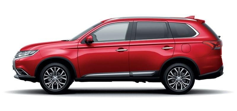 Mẫu Mitsubishi Outlander màu đỏ