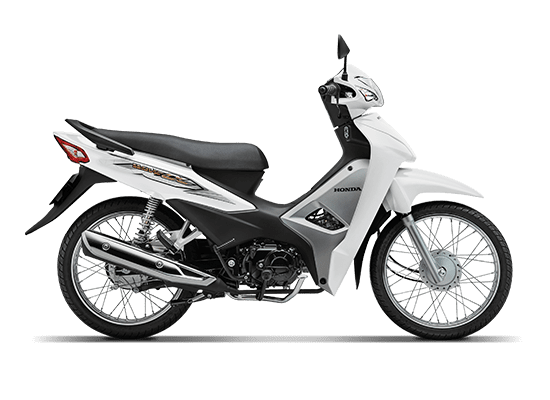 Mẫu Honda Alpha 110cc màu trắng