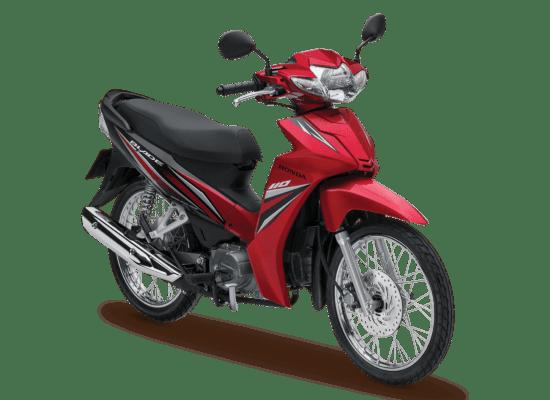 Mẫu Honda Blade màu đỏ đen