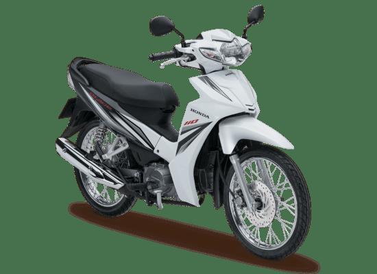 Mẫu Honda Blade màu trắng đen