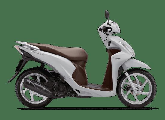 Mẫu Honda Vision màu trắng nâu