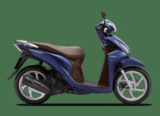 Mẫu Honda Vision màu xanh nâu