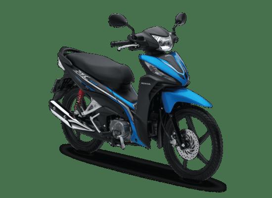 Mẫu Honda Wave RSX màu đen xanh