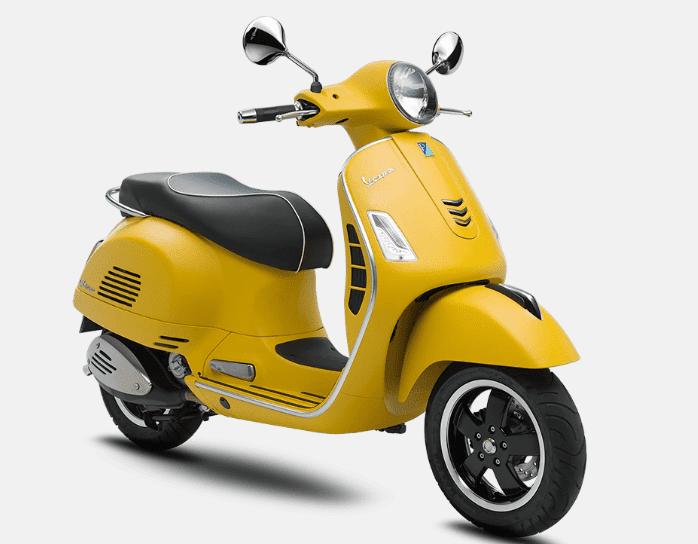 Mẫu Vespa GTS 300 màu vàng
