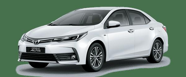 Mẫu Toyota Corolla Altis màu trắng